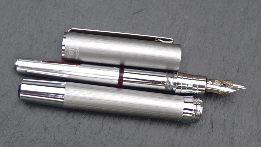 Cult Pens Mini Fountain Pen deconstructed