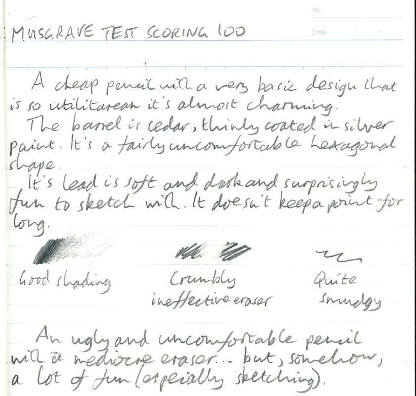 Musgrave Test Scoring 100 handwritten review