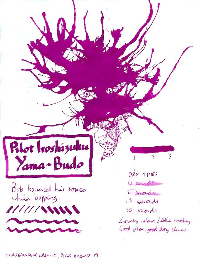 Pilot Iroshizuku Yama-Budo inkling