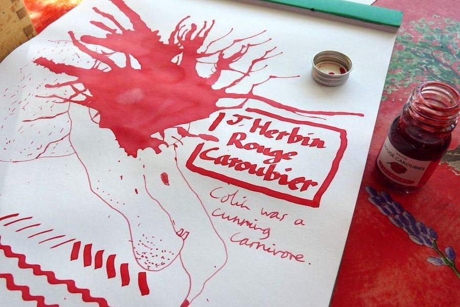 J Herbin Rouge Caroubier ink review