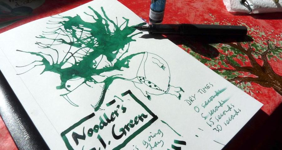 Noodlers GI Green ink review