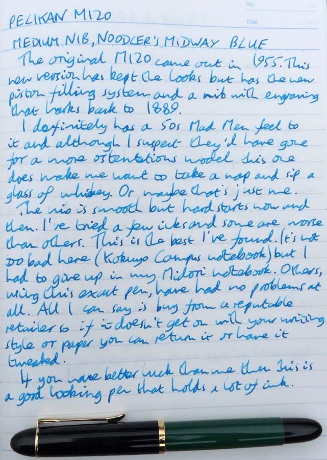 Pelikan M120 handwritten review