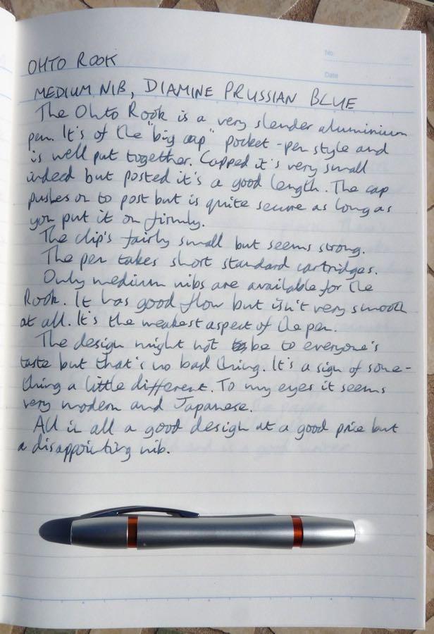 OHTO Rook handwritten review