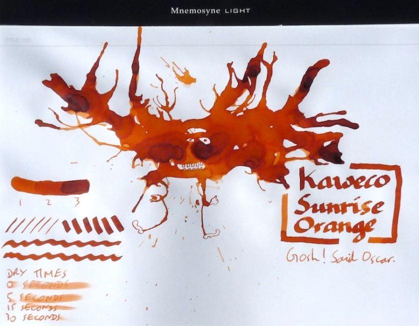 Kaweco Sunrise Orange Inkling