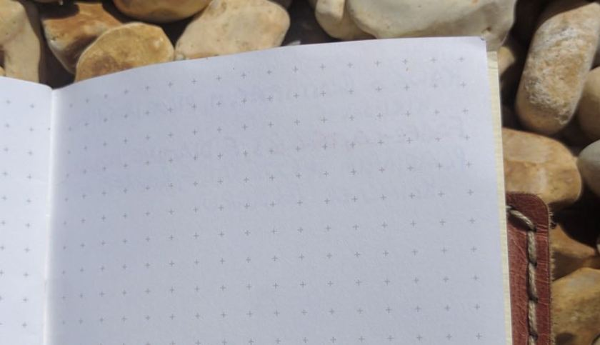Back Pocket Notebook ink test back