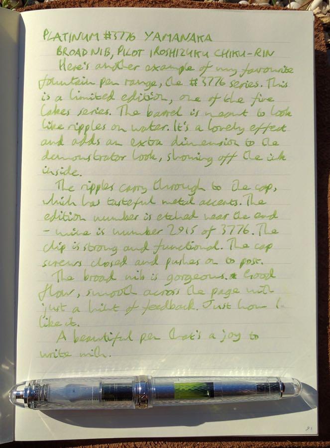 platinum-3776-yamanaka-handwritten-review
