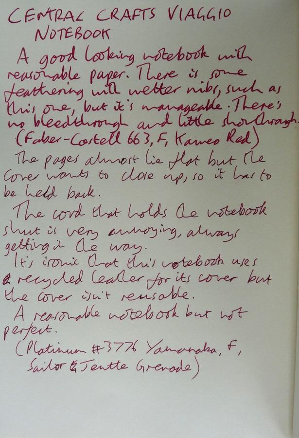 Viaggio notebook handwritten review