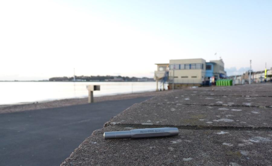 Kaweco Steel Sport by the seaside