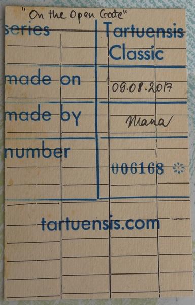 Studio Tartuensis Notebook info card