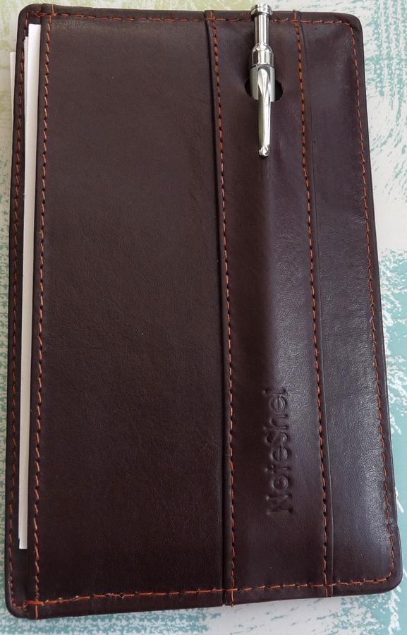 NoteShel Index Card Holder pen In its slot