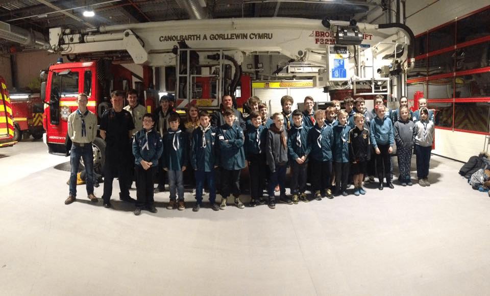 scouts Fire Brigade visit