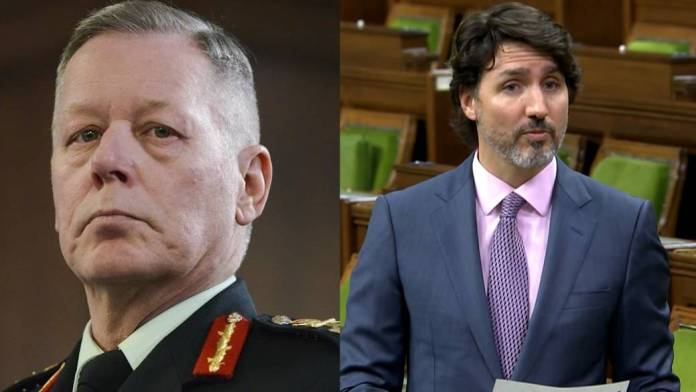 Click to play video 'Trudeau says he first learned of allegations against Gen. Vance in Global News reporting'