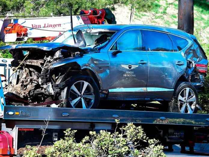 Tiger Woods Crash, Officials Get Warrant to Retrieve 'Black Box' from Wrecked SUV