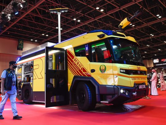 Region's first fully electric fire engine launched in Dubai