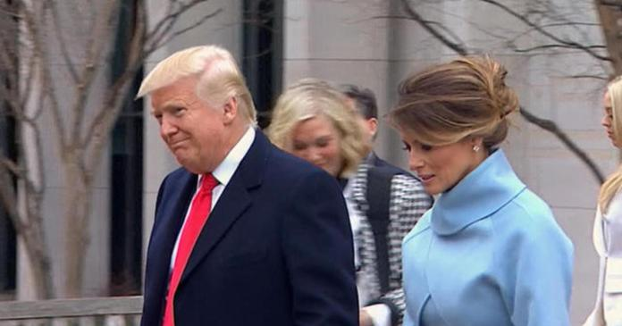 Donald Trump departs inauguration church service for White House