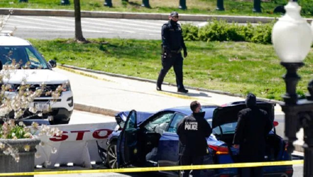 US Capitol on lockdown after car rams barricade, injuring two officers; driver shot