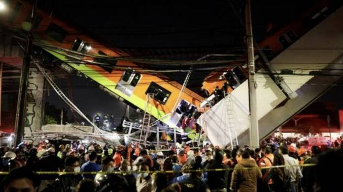 Mexico City bridge collapses with train on it; 50 injured - News