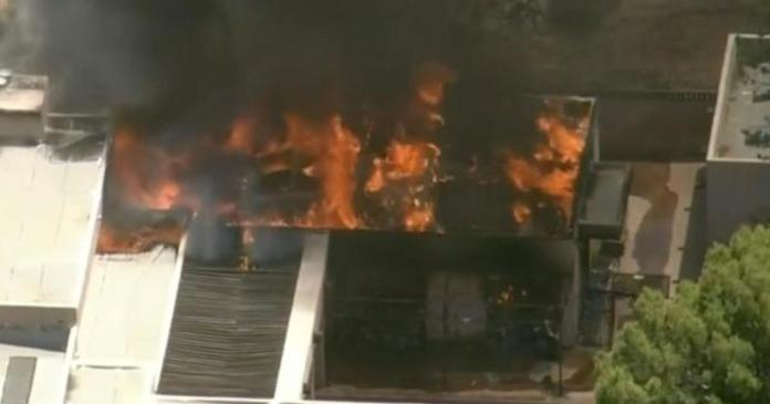 Fire station shooting suspect's home burned to the ground