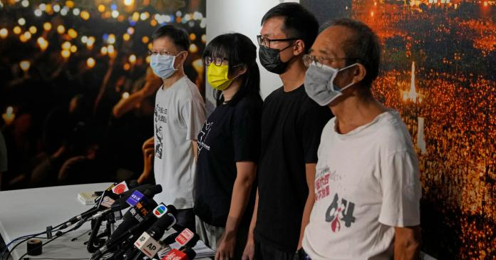 Leaders of Hong Kong's annual Tiananmen candlelight vigil charged with subversion