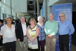Conference Speakers 2015, left to right Kim Phillips, Councillor Ross Fowler (Mayor), Lorraine Stacker (Conference Convenor), Dr Carol Liston, John Broadley, Norm Andrews