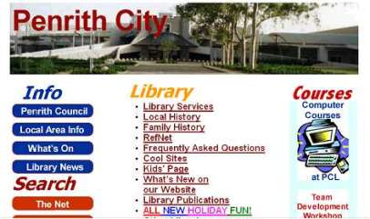 penrithcity website old