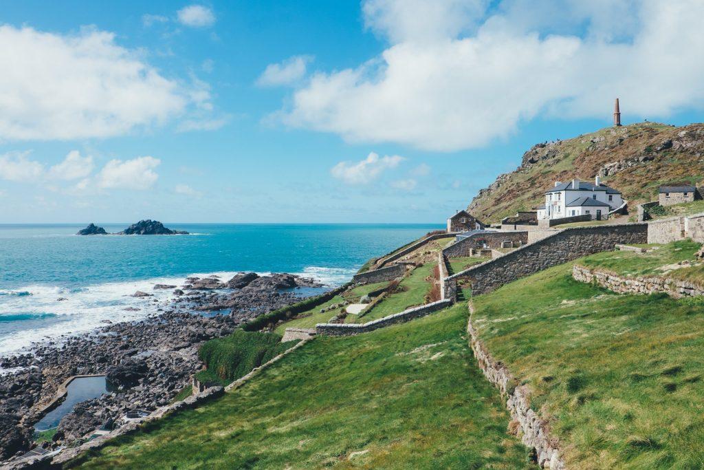 Cape Cornwall, where Poldark is filmed, is not far