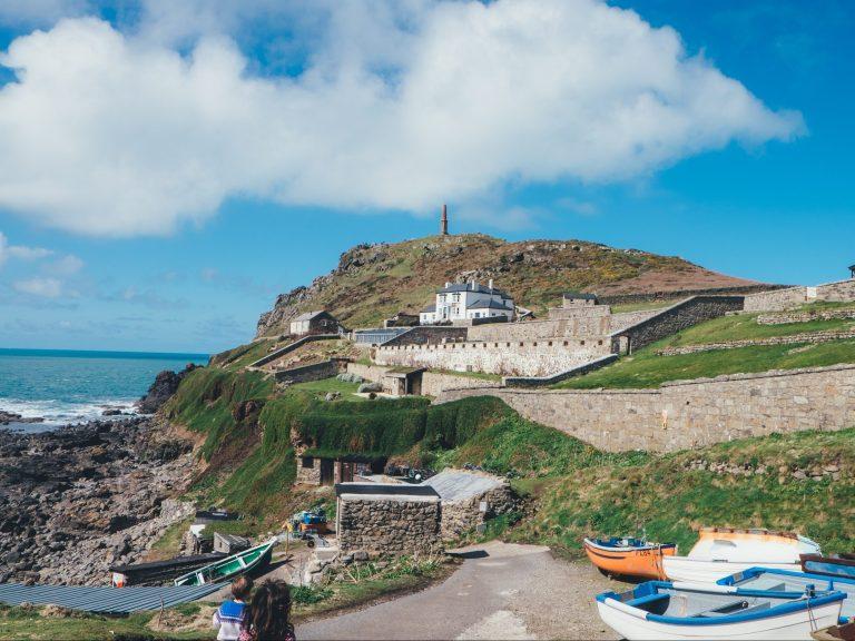 Cape Cornwall, where Poldark was filmed