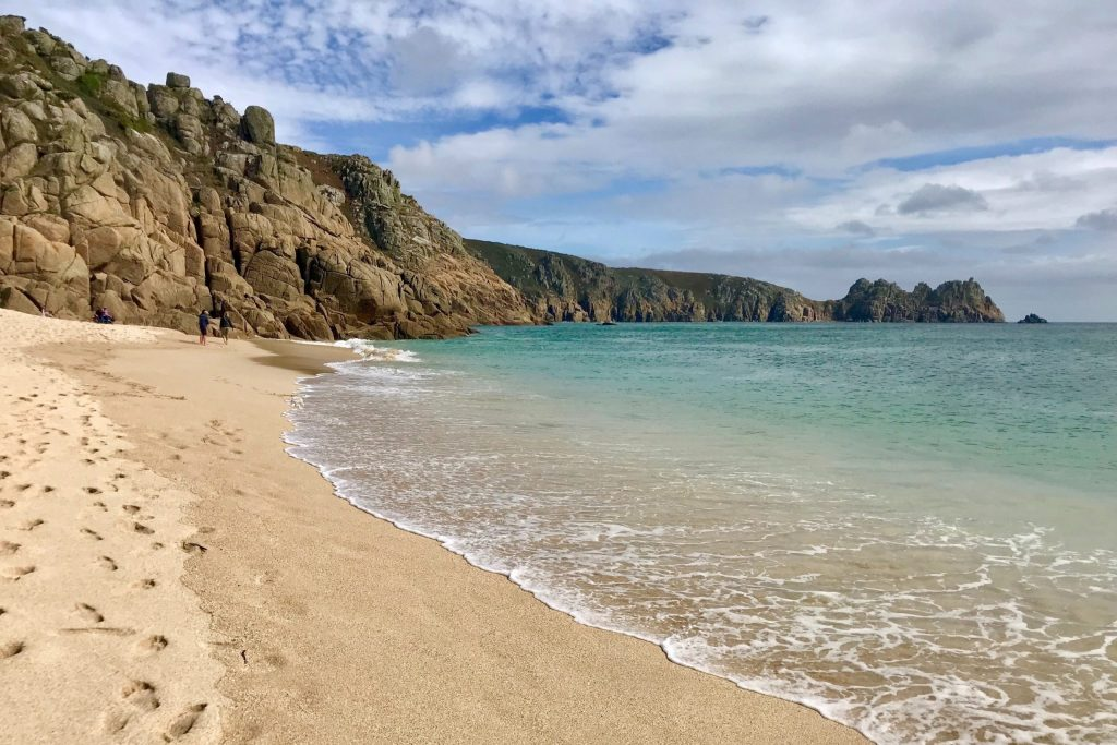 Porthcurno beach, down from the famous Minack Theatre, is very close by