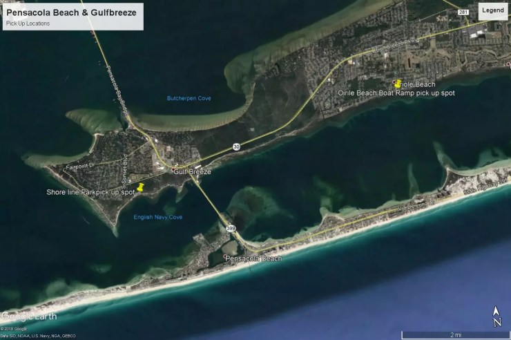 Pick Up Locations – Pensacola Pontoons