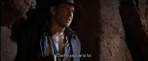 Saut de la foi - Indiana Jones