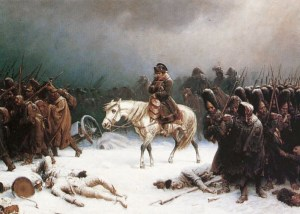 La retraite de Moscou de Napoléon, peinture d'Adolph Northen.