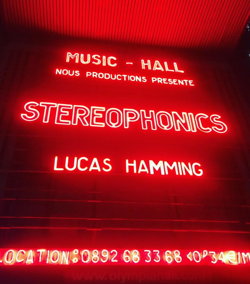Stéréophonics le 27/01 à l'Olympia