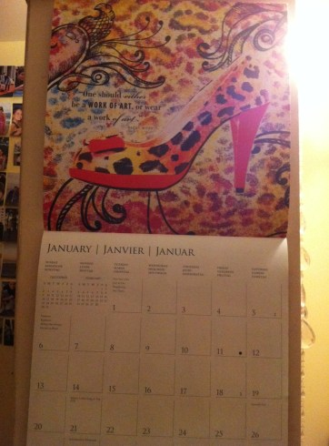Calendrier chaussures pour 2013