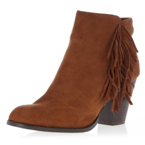 Dorothy Perkins, bottines marron à franges