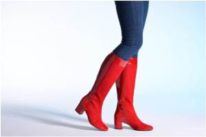 Bottes Sarenza Pop Party en Verni Rouge