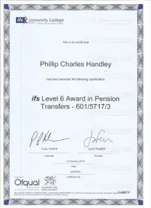 Level 6 Pension transfers