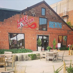 The exterior of the Lake Monster Brewing taproom