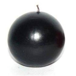 Свеча черная шар 35-часовая