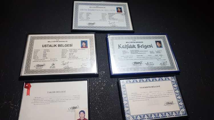 Belge ve sertifikalarımız Manisa