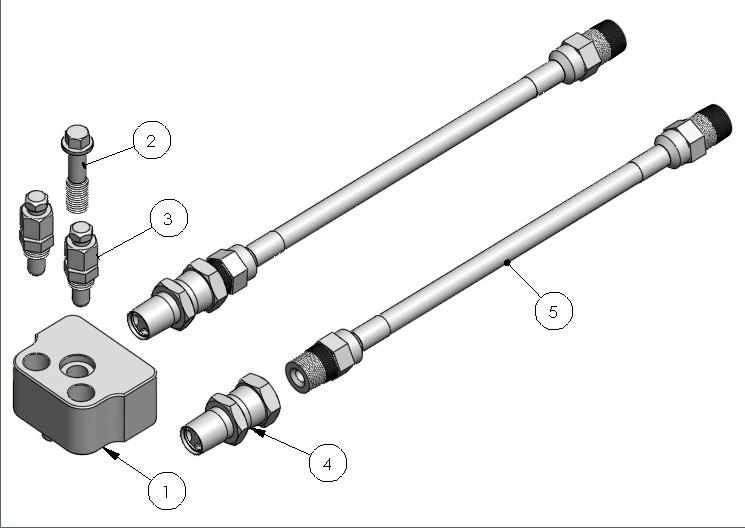 MG5300 Coupling Block Whip Hose Assemblyt
