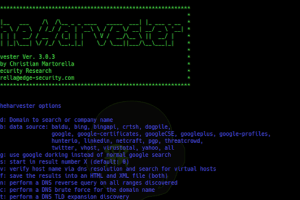 theHarvester v3.0.3 - E-mails, Subdomains And Names Harvester (OSINT)