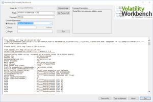 Volatility Workbench - A GUI For Volatility Memory Forensics
