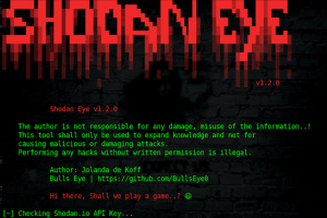 Shodan-Eye - Tool That Collects All The Information About All Devices Directly Connected To The Internet Using The Specified Keywords That You Enter