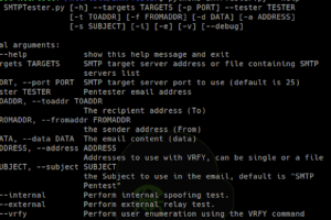 SMTPTester - Tool To Check Common Vulnerabilities In SMTP Servers