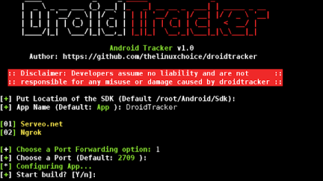 DroidTracker - Script To Generate An Android App To Track Location In Real Time