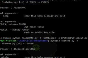 TokenBreaker - JSON RSA To HMAC And None Algorithm Vulnerability POC
