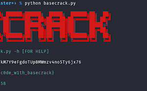 Basecrack - Best Decoder Tool For Base Encoding Schemes