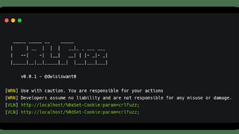 CRLFuzz - A Fast Tool To Scan CRLF Vulnerability Written In Go
